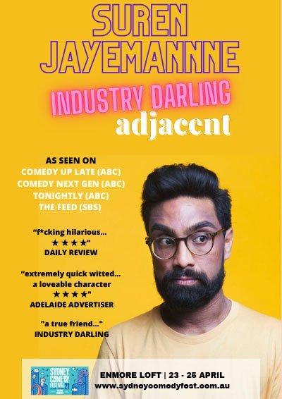 Suren-Jayemanne-Industry Darling Adjacent-Comedy Poster